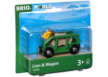 BRIO - Vehicle Safari Lion and Wagon BRI33966
