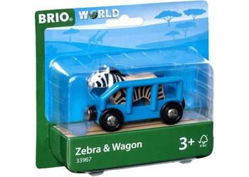 BRIO - Vehicle Safari Zebra and Wagon BRI33967