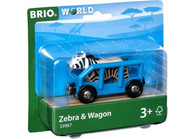BRIO - Vehicle Safari Zebra and Wagon BRI33967