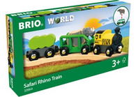 BRIO - Safari Rhino Train, 4pcs BRI33964