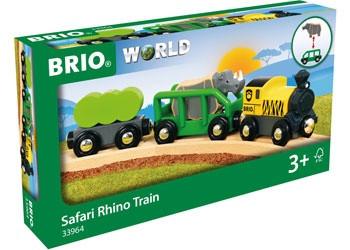 BRIO - Safari Rhino Train, 4pcs BRI33964