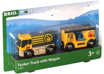 BRIO - Vehicle Tanker Truck with Hose Wagon BRI33907