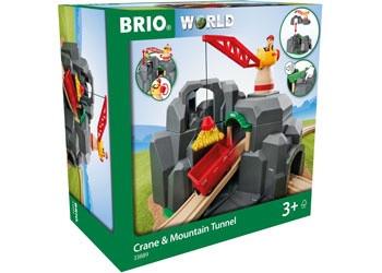 BRIO - Tunnel Crane and Mountain Tunnel, 3pcs BRI33889