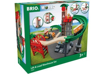 BRIO - Set Lift and Load Warehouse Set , 32pcs BRI33887
