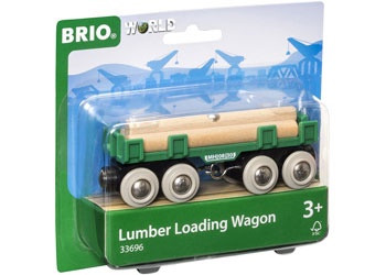 BRIO - Vehicle Lumber Loading Wagon, 4pcs BRI33696