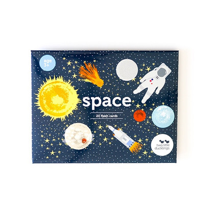 Space flash cards - 20 pack (with bag) - Two Little Ducklings