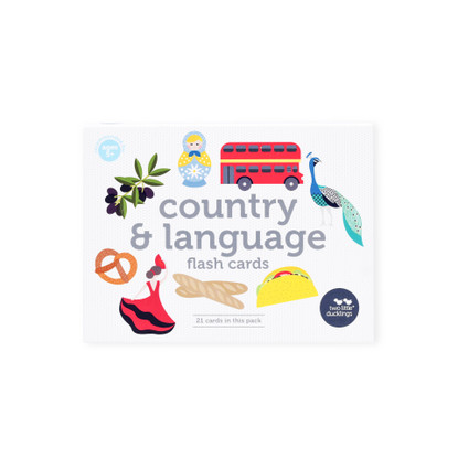 Country and Language Flash Cards (Boxed) - Two Little Ducklings