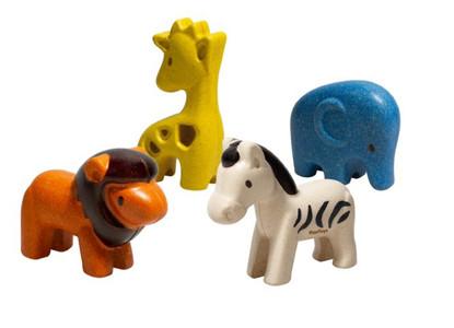 Plan Toys - Wild Animal Set PT6128