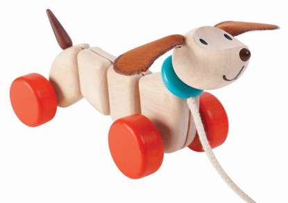 Plan Toys - Happy Puppy Pull Along PT5101