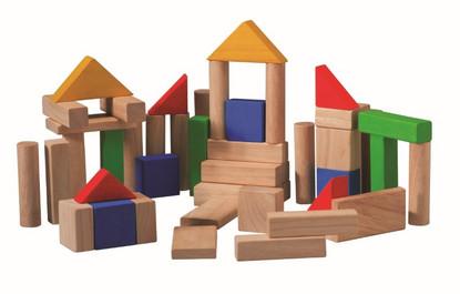 Plan Toys - 50 piece building blocks