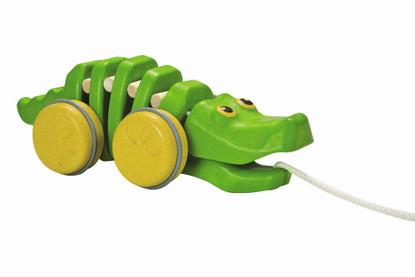Plan Toys - Pull-Along Dancing Green Alligator PT5609