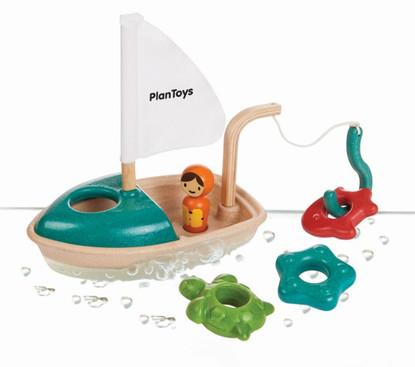 Plan Toys - Activity Fishing Boat PT5693