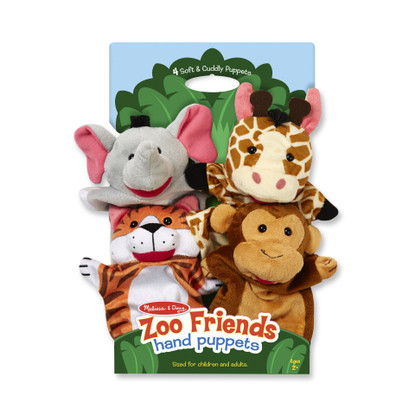 Melissa & Doug - Hand Animal Puppets - Zoo MND9081 packaged