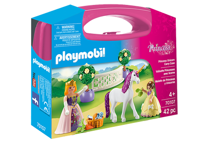 Playmobil - Princess with Unicorn Carry Case PMB70107