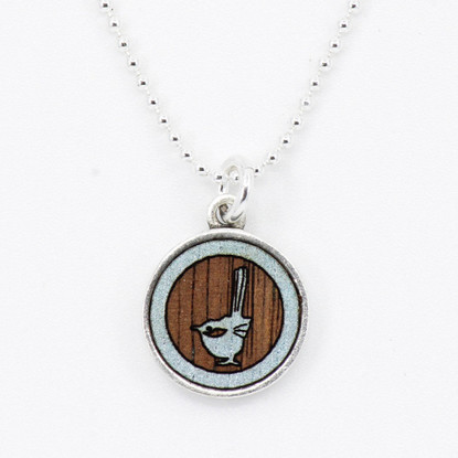 Blue Wren Charm Necklace - Buttonworks