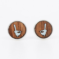Blue Wren Stud Earrings - Buttonworks