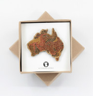 Coloured Australia Brooch - Buttonworks