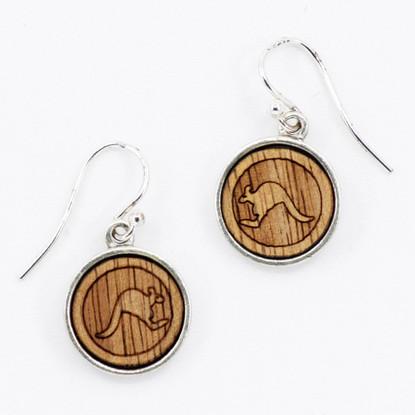 Kangaroo Charm Drop Earrings - Buttonworks