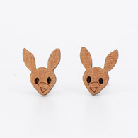 Kangaroo Face Stud Earrings - Buttonworks