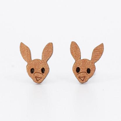 Kangaroo Face Stud Earrings - Buttonworks