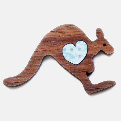 Kangaroo Heart Brooch - Buttonworks