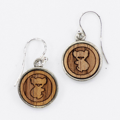 Koala Charm Drop Earrings - Buttonworks