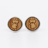 Koala Charm Stud Earrings - Buttonworks