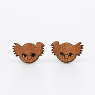 Koala Face Stud Earrings - Buttonworks