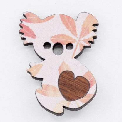 Koala Heart Brooch - Buttonworks