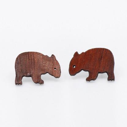 Wombat Stud Earrings - Buttonworks