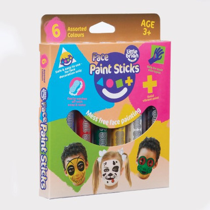 Little Brian Face Paint Sticks - Classic 6 pk