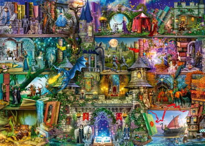 Ravensburger - Myths and Legends 1000pc RB16479-0 Jigsaw Puzzle