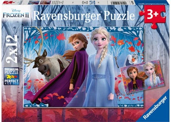 Ravensburger - Disney Frozen 2 Journey Into the UnknownPuzzle 2x12pcs RB05009-3
