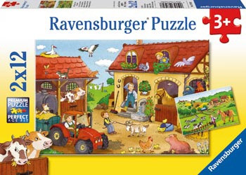 Ravensburger - Working on the Farm Puzzle 2 x 12 pc RB07560-7