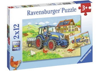 Ravensburger - Hard at Work Puzzle 2 x 12 pc RB07616-1