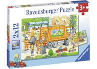 Ravensburger - Street Cleaning Underway Puzzle 2 x 12 pc RB07617-8