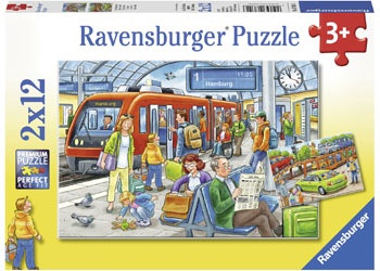 Ravensburger - All Aboard Puzzle 2 x 12 pc RB07611-6