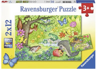 Ravensburger - Animals in Our Garden Puzzle 2 x 12 pc RB07610-9