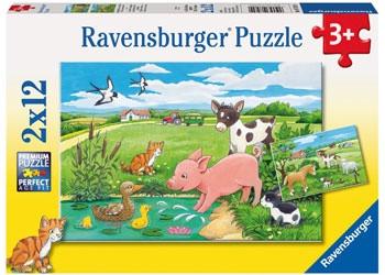 Ravensburger - Baby Farm Animals 2 x 12 pc RB07582-9