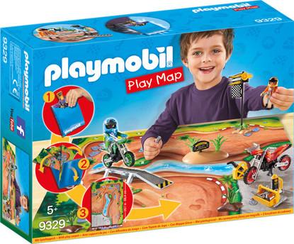Playmobil - Motocross Play Map PMB9329 boxed
