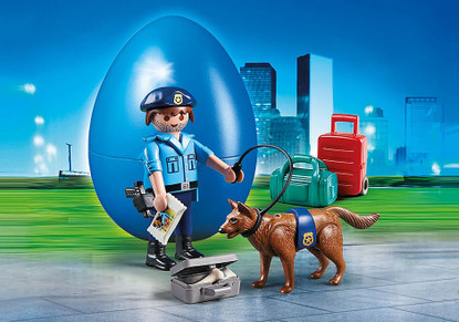 Playmobil - Police Officer with Dog PMB70085
