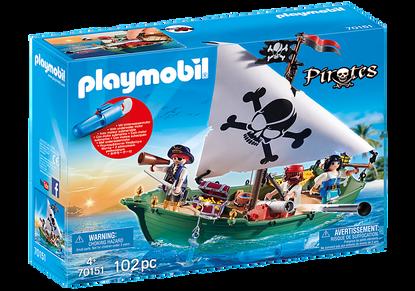 Playmobil - Pirate Ship with Underwater Motor PMB70151