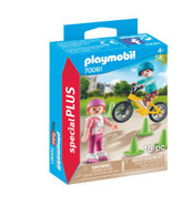 Playmobil - Children with Skates and Bike PMB70061