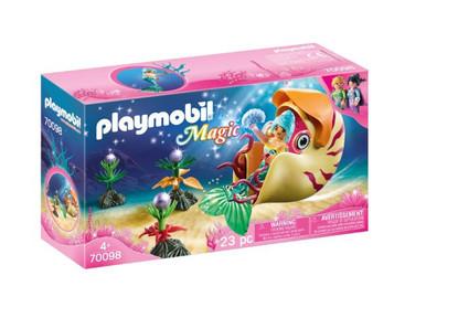 Playmobil - Mermaid with Sea Snail Gondola PMB70098