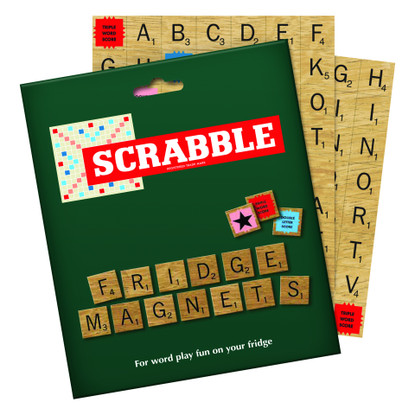 Scrabble Fridge Magnet Game Box and magnets
