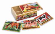 Melissa & Doug - Farm Jigsaw Puzzle in a Box Wooden Jigsaw for Children MND3793