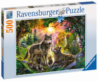 Ravensburger - Wolf Family in Sunshine Puzzle 500pc RB14745-8