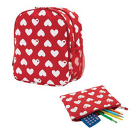 Britt Hearts backpack and Pencil Case Combo