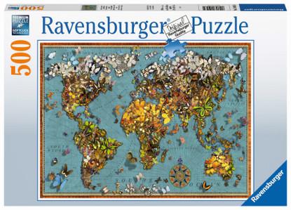 Ravensburger - World of Butterflies 500pc RB15043-4