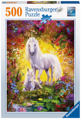 Ravensburger - Unicorn and Foal Puzzle 500pc RB14825-7